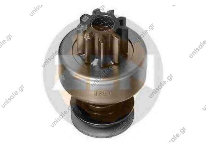 ERA ZN0367 BOSCH 2 006 209 492 B086264492 DRI 9T JF F Spline Monark BOSCH 2 006 209 492 (2006209492), Freewheel Gear, starter