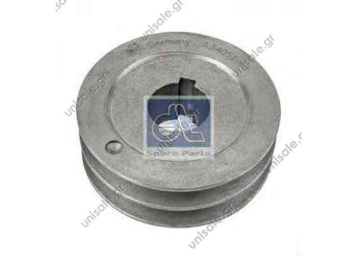 Diesel Technic 334051 Belt pulley, generator  51.26105.0119 (51261050119)  MAN 51.26105.0119 (51261050119)  Pulley, alternator DT 3.34051 (334051), Pulley, alternator