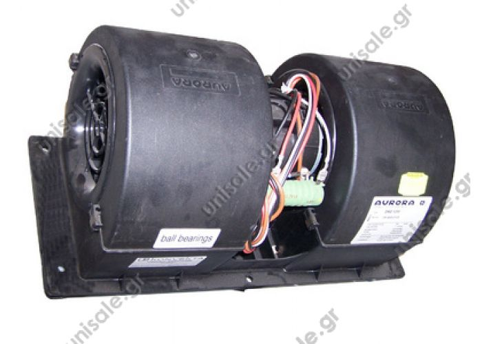 20220156 ΤΟΥΡΠΙΝΑ ΣΑΛΙΓΚΑΡΟΣ ΔΙΠΛΟΣ      Evaporator blower > Buses >Konvekta   OE: H11001251    Double blower Aurora DRG1200 24V, 3-speed  Re.: . 1316020014 , 1316020103 , 81779306063