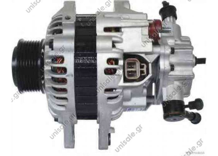 KIA 450201  Sorento 2500 CC Diesel 03/02>. 12 Volt-110 Amp. ΚΑΤΑΛΛΗΛΟ ΓΙΑ : Kia 37300-4A112 . 37300-4A110. ΤΡΟΧΑΛΙΑ POLY-V ME 7 ΕΓΚΟΠΕΣ ΜΕ ΑΝΤΛΙΑ.  NEU 110A KIA Sorento Hyundai H1 Starex Porter 2.5 CRDi