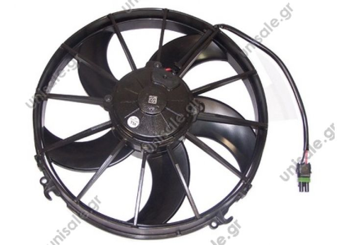28.21.01.001  SPAL-BOSCH 0599.6907 30315016  Ø 305 mm Blowing VA01-AP70/LL-36S AXIALNY FAN 24VDC, EMBOSSING VA01-BP70LL-36S (3031588325)  TYPE: axial SPAL VA01-BP70 / LL-36S 24V