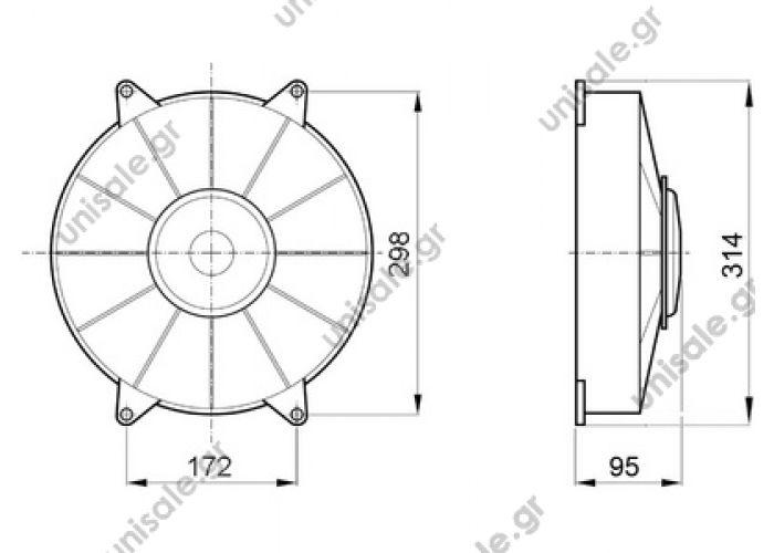 3031582457  SPAL Condenser motor fan > Buses > Konvekta