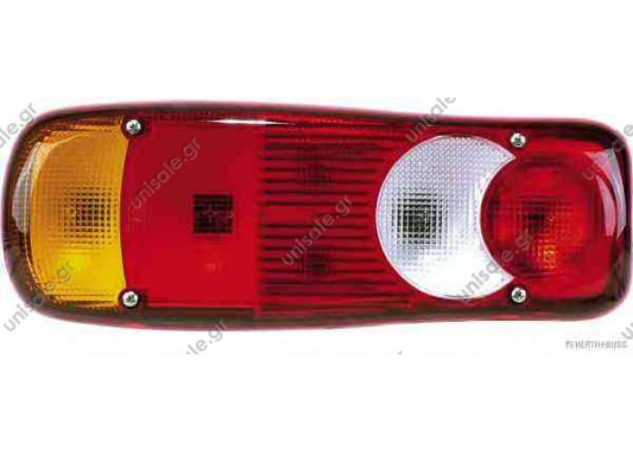 LC5 -VIGNAL OΠΙΣΘΙΟΣ ΦΑΝΟΣ 6 ΛΕΙΤΟΥΡΓΙΩΝ   Rear lamp Left/Right with PG13 rear connector   LC5  83840574 Combination Rearlight; Combination Rearlight Britax Rear Bulb Combination Lamp – L03.01.24V