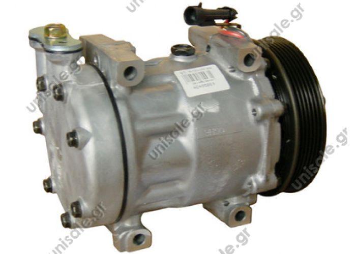 40405089  Συμπιεστής A-C (Κομπρέσορας)     Alfa Romeo  147 1.6 - 2.0 TS / 1.9 jtd Compressor Sanden variable SD7V16       OE: 60610275 / 60629417 / 71721751   ALFA ROMEO : 60653652 FIAT : 60653652