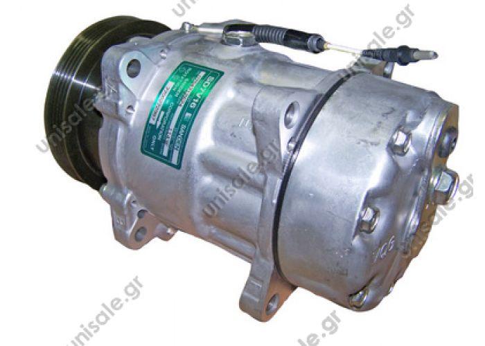 40405260 Compressors > Cars >Compressor Sanden variable SD7V16    1143 Compressor A / C Sanden SD7H16; 120 mm; PV4; 12V; H; Renault Megane; Scenic    Renault  Mégane I Serie 1.4 - 1.6 Scénic I serie 1.6 16v 1143 / 1175 / 7700272987 / 7701499820