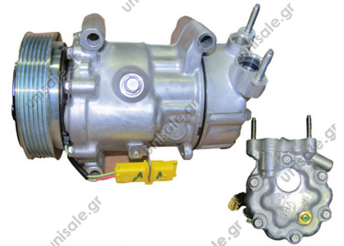 40405277  Mini Mini Cooper S 1457-1914   Compressor Sanden SD6V12   1457    / 64522758145 / 64522758433 /  64526942501  Technical Data:  Belt-Ø [mm]: 119 Belt-Type: Poly V6 Compressor-ID: SD6V12 for Manufacturer: Sanden Riemenscheibe:  119mm PolyV6