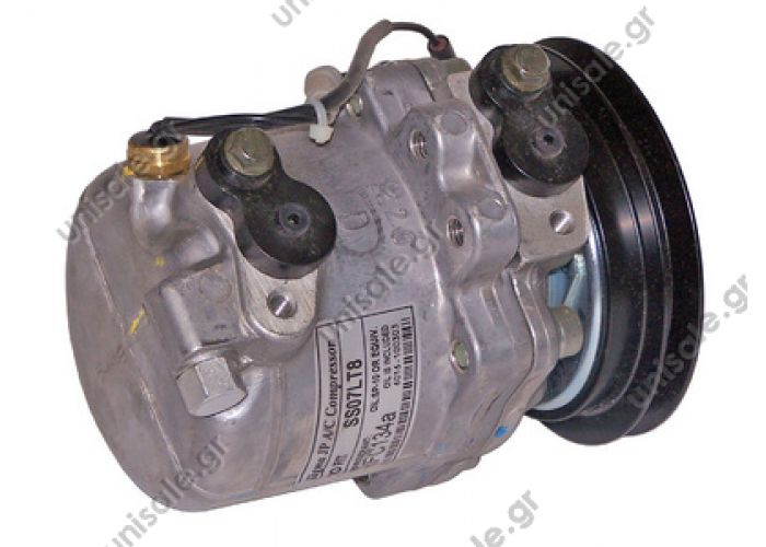 40440172 TSP0155384 Kompresor A/C Seiko SS07LT8; 118mm; A1; 12V; V; Suzuki Wagon R+ AIR CONDITIONING COMPRESSOR KS1.3023A 9520177G01 92060030 9520177G01000