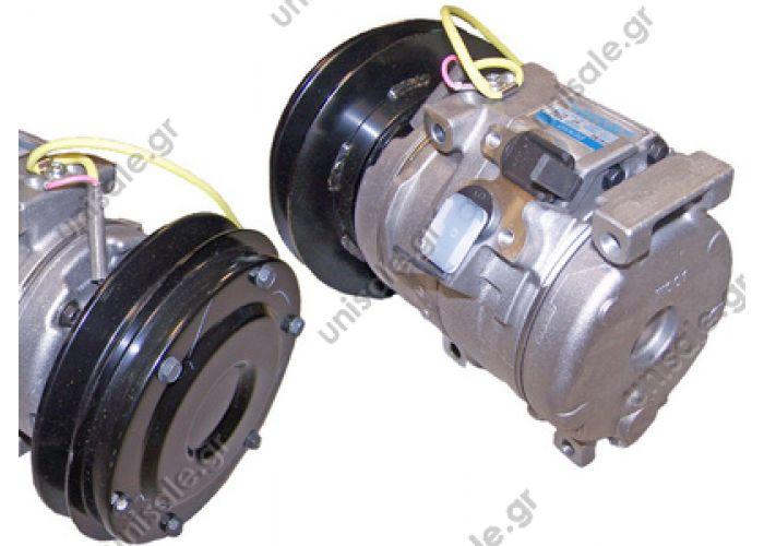 40440174 ΣΥΜΙΕΣΤΗΣ KOMATSU (DENSO 10S15C)  KOMATSU Hitachi Kobelco   DENSO DCP99821,DENSO DCP99822     Compressor, air conditioning DENSO 10S15C    DENSO DCP99820   40440174   20Y8101260 - 20Y9796120 KOBELCO  - 20Y9796121 - 4436025 - X4436025