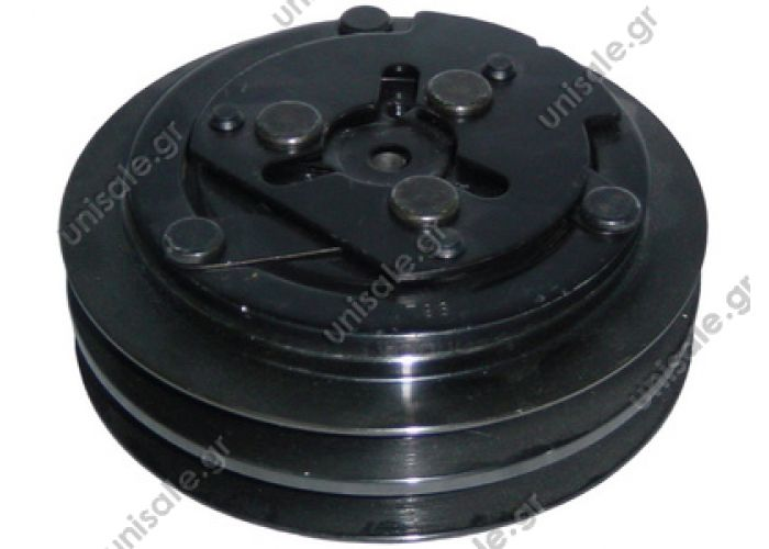 40455002  ΤΡΟΧΑΛΙΑ ΚΟΜΠΡΕΣΣΕΡ    A/C Compressor Pulley, SANDEN 7H15, 2A (A2), 132,00/ mm, Universal   Spare parts for compressors > Clutch > Sanden 7H15 / 7H13 12V 2G A Ø125mm