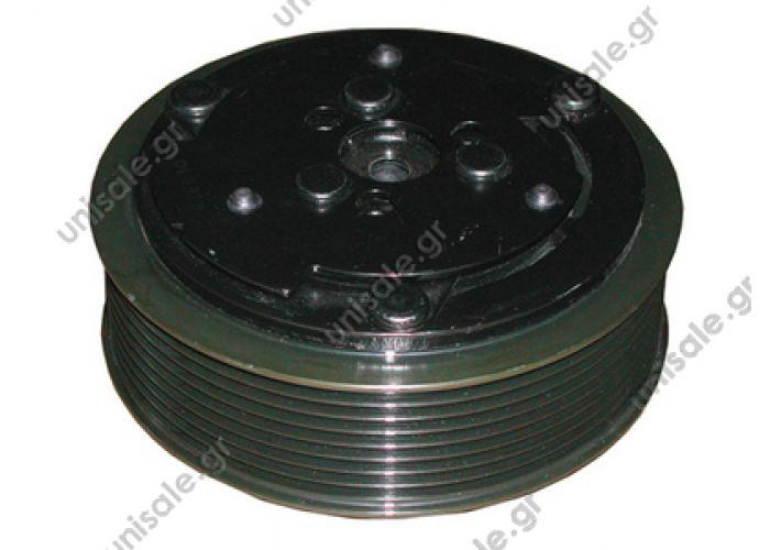 40455003  Spare parts for compressors > Clutch > Sanden   7H15 / 7H13 12V Poly-V 8 Ø123mm OE: 50430