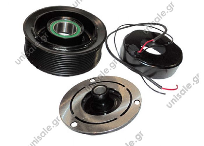 40455089   ΤΡΟΧΑΛΙΑ ΚΟΜΠΛΕ   ND6SEU14C / 7SEU14C   Spare parts for compressors > Clutch > Denso  ND6SEU14C / 7SEU14C 24V Poly-V 11 Ø135mm X MB 5412300428 / 5412300828 / 5412301028 / A5412300428 / A5412300828 / A5412301028