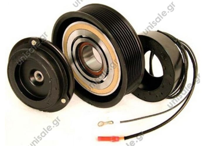 40455090  ΤΡΟΧΑΛΙΑ ΚΟΜΠΛΕ DENSO    A/C Compressor Pulley, DENSO 10PA17C, 11PK (PV11), 130,00/135,00 mm, Mercedes-Benz Truck   Spare parts for compressors > Clutch > Denso  ND7SBU16
