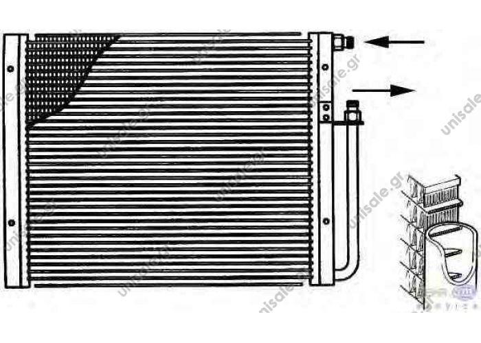 UNIVERSAL Condenser, air conditioning      ΠΛΑΪΝΗ ΣΤΗΡΙΞΗ 8FC 351 038-041