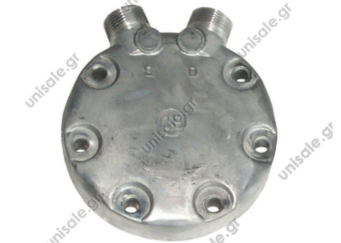 SANDEN SD7-JD Sanden Rear Head Type: JD 7223-9630 Fitting Style: Vertical O-ring #8 x # 10