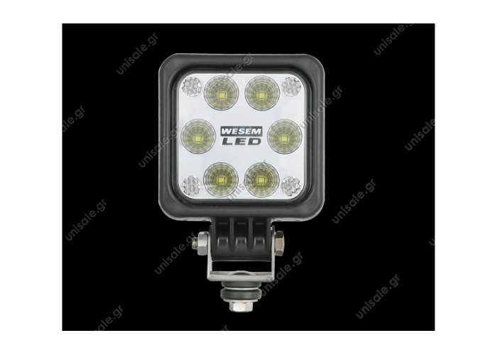 LED5F.47900  WESEM LED1F ΦΑΝΟΣ ΕΡΓΑΣΙΑΣ LED LED work lamps 12-48V - 1500lm - 2500lm  Dimensions: 100 x 100  IP Rating: IP68, IP69K  Correct polarity required. Permissible power supply voltage of 12V-24V LED module is 10-30V DC.