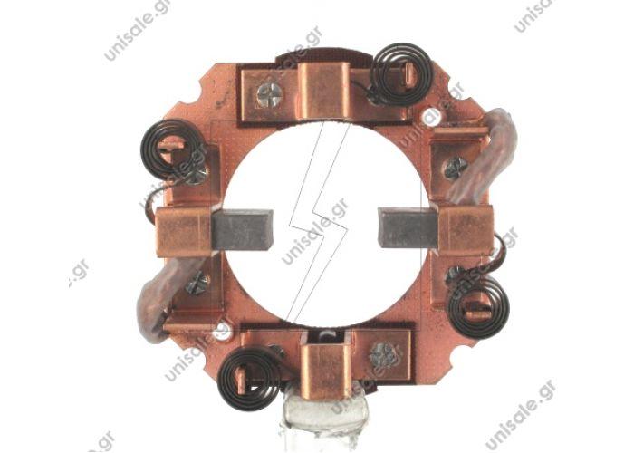 7494 ΨΥΚΤΡΟΘΗΚΗ  ΜΙΖΑΣ   LETRIKA (ISKRA)  Brush Holder ISKRA AZJ @ LET 16.908.337 - 8X25X18,8  - 12 Volt  Voltage, V: 12 OD, mm: 82.00 Dist. mount. holes, mm: 52.00 No./ brushes: 4 Brush set: 16.908.337     ISKRA16.908.336