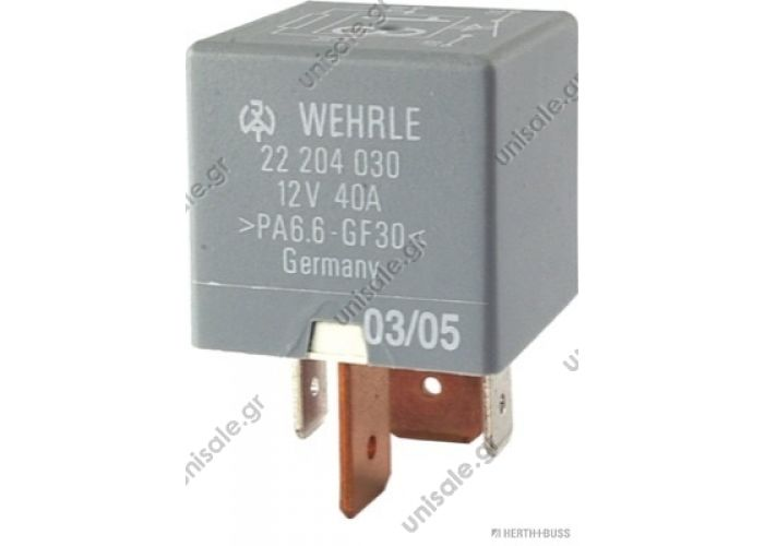 ΡΕΛΕ 75613149 VOLKSWAGEN 8D0 951 253 (8D0951253), Relay VOLKSWAGEN 443 951 253 J (443951253J), Relay, main current  Ignition Cooling Fan Relay 213 VW Audi Jetta Golf GTI A4 A6 Passat 443 951 253 J