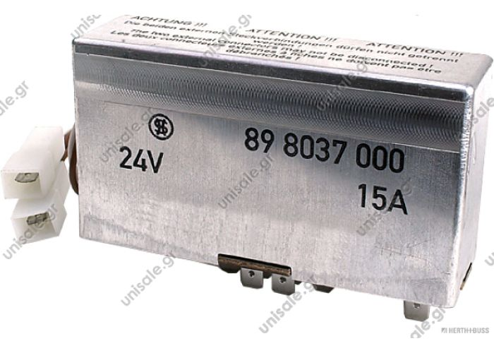 MAN 75898037 81.25902-0465 Control Unit, glow plug system  Relay control unit-glow plug, 24V / 15A 81259020497 81259020465 81259020441 75898037   DT 333070 STRIBEL 898037 STRIBEL 898625 STRIBEL 898771  Switching device, flame starter system