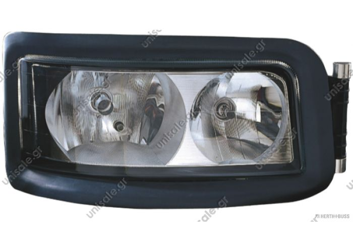 Headlamp, left electr. height control / w/o bulbs / LHD  Art. No. 3.31008  ΜΑΝ 81658152 81.25101-6357  - 81.25101-6421