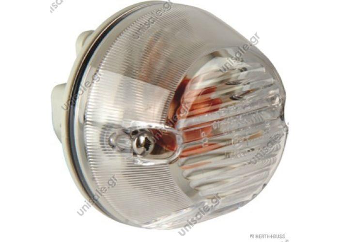 Turn signal lamp, lateral Art. No. 3.31052   81.25320-6106 MAN  83700176 Φλας  Blinker seitlich weiß passend re + li, passend für MAN TGA TGM TGL L2000 M2000    OE Vergleichs Nr.: 81.25320-6101, 81.25320-6118, 81.25320-6116,