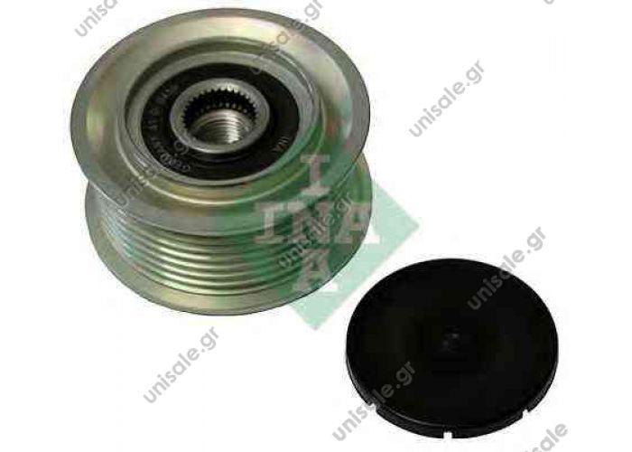 4.62704 DT Τεντωτήρας, ιμάντας poly-V   535 0055 10 INA Ελεύθερη περιστροφή γεννήτριας   MERCEDES 9061550815 Pulley, alternator DT 4.62704 Tensioner Pulley, v-ribbed belt INA 535 0055 10 Freewheel Clutch, alternator