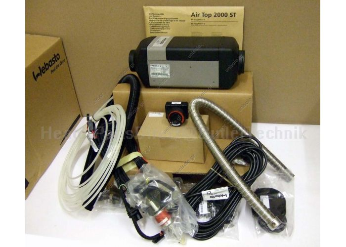 411181B  AT200012V  AIR TOP 2000ST ΚΟΜΠΛΕ ΣΕΤ ΚΑΥΣΤΗΡΑΣ  Webasto Air Top 2000 STC 24v Universal Heater Kit Diesel Rotary Control & 1 Outlet Ducting Kit – 4111386B/1