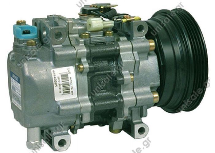 40440005 FIAT Bravo-a 1.6 16v   544071000  46438576  Compressor Denso complete TSP0155319 Compressor A / C Denso TV12SC; 125 mm; PV4; 12V; H / W; Fiat Brava; Bravo; Marea; Lancia Dedra; delta