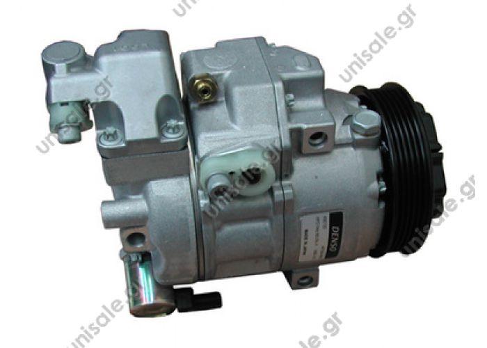 40440083  DCP17025 COMPRESSOR MERC. A-140 97-04     M/S Compressors > Cars > Mercedes Benz  W168 Classe A COMPRESSOR, NEW, N-DENSO, MERCEDES A-CLASS W168 , W169 PETROL A140/A160/A190 6SEU12C 5PK 115MM NISU