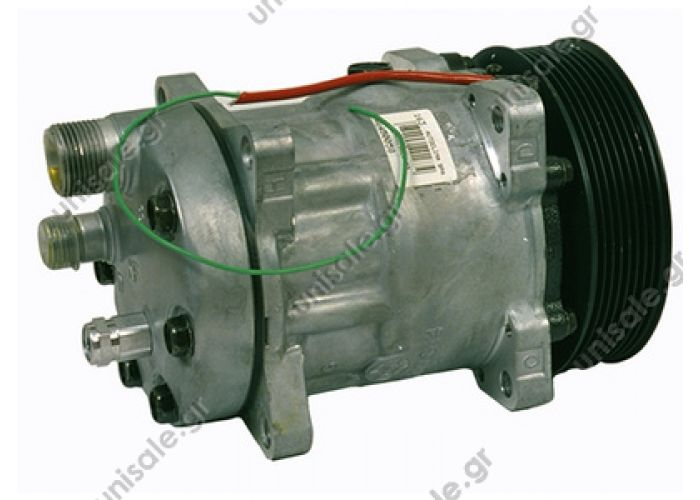 40450058 VOLVO FH12 Compressor Sanden Fix R134a SD7H15    OE: 7834 - 8113625 - 8142555  Other Applications ApplicationYear FH1208 93-> FH16 I Serie08 93->