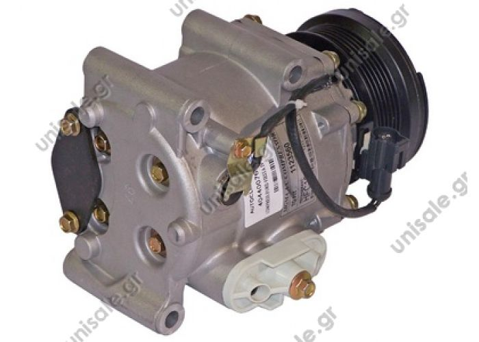 40440076 FORD Compressor Visteon  Transit 1.8 16V - 1.8 Di - 1.8 TDCi  FORD : 1346251, 1064354, 1123560, 1406108 MAZDA : DE9416450  TSP0155310  A/C Visteon Scroll; 97mm; PV6; 12V; H; Ford Fiesta; Focus; Fusion; Ikon; Tourneo; Transit; Mazda 2