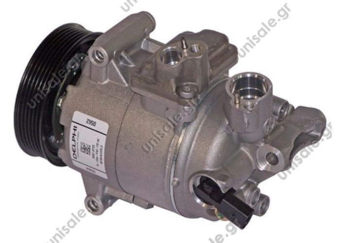 40420044  TSP0155465 Compressor A / C Harrison CVC; 110 mm; PV6; 12V;   VW Caddy III Serie Κωδικός προϊόντος: 1K0820803G , 1K0820803Q , 1K0820803S , 1K0820803SX , 1K0820859F , 1K0820859Q , 1K0820803QX