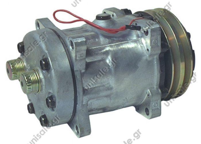 40405073  SD 7H15 OR Rotolock Horizontal 12V   Sanden Universal Compressor # 7819