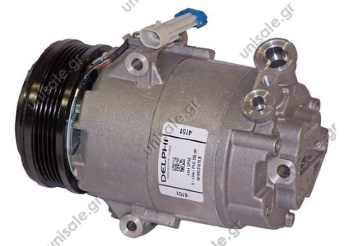 "40420047 TSP0155440 Compressor A / C Harrison CVC; 109 mm; PV5; 12V; V45 °; Opel Zafira   DCP20019        OPEL Astra  ""G"" 1.6 16v - 1.8 16v     Original6854010   Original24464151  Manufacturer1139046"