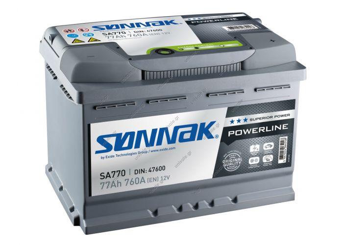EXIDE LV SONNAK  POWERLINE BATTERY SONNAK SA770 77Ah battery