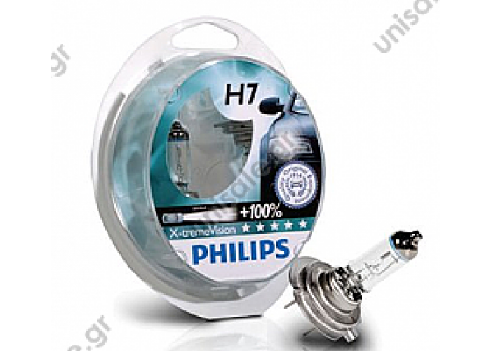 Philips X-treme Vision H7 +100% GL12972XVS2 12V 55W H7 bulb assortment