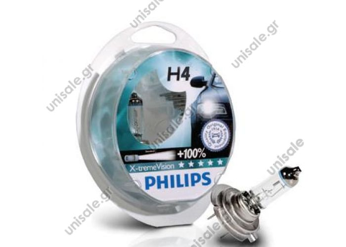 Philips X-treme Vision H4 +100%