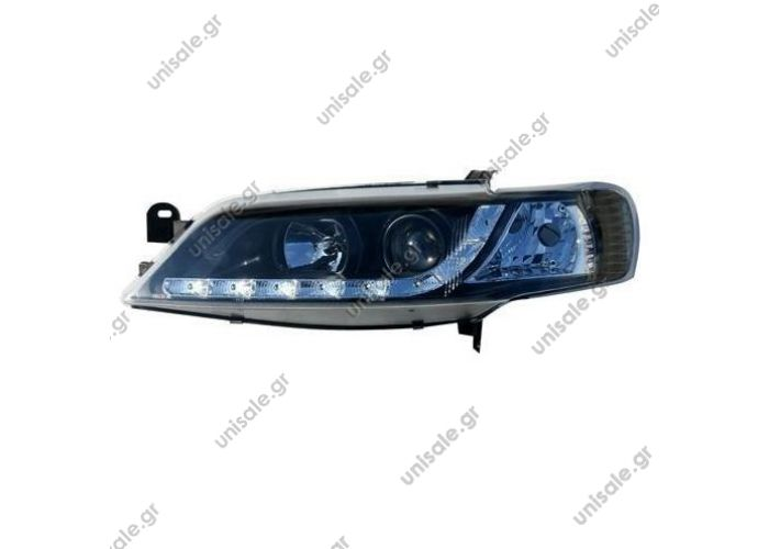 Vectra B 99-02 Daylight Φανάρια Black OPEL VECTRA B 01.1999-03.2002