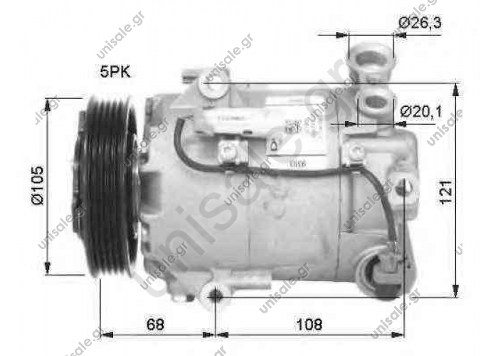 NRF 32399, Compressor, air conditioning OPEL ASTRA H 2004- ASTRA H Estate	2004-... ASTRA H GTC	2005-.