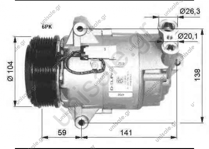 NRF 32400, Compressor, air conditioning OPEL ASTRA H 2004- ASTRA H Estate	2004-... ASTRA H GTC	2005-... ASTRA H TwinTop	2005-... ZAFIRA	2005-...