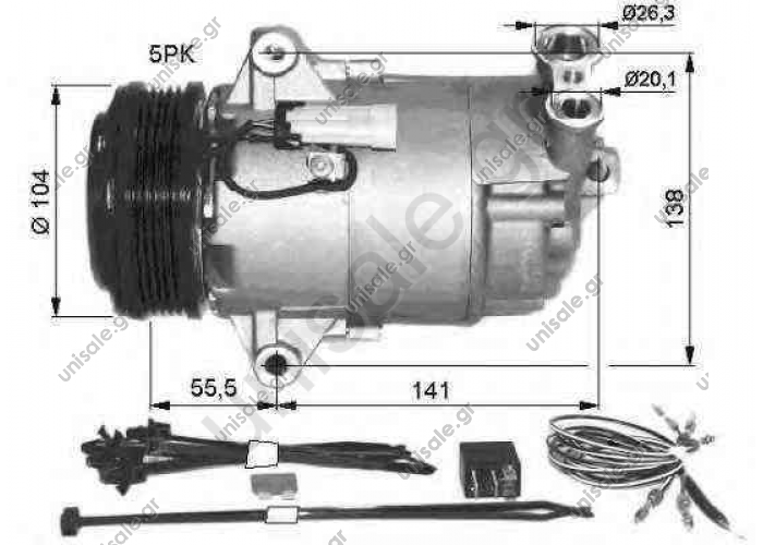 NRF 32426, Compressor, air conditioning  OPEL ASTRA G ASTRA H	2004-..