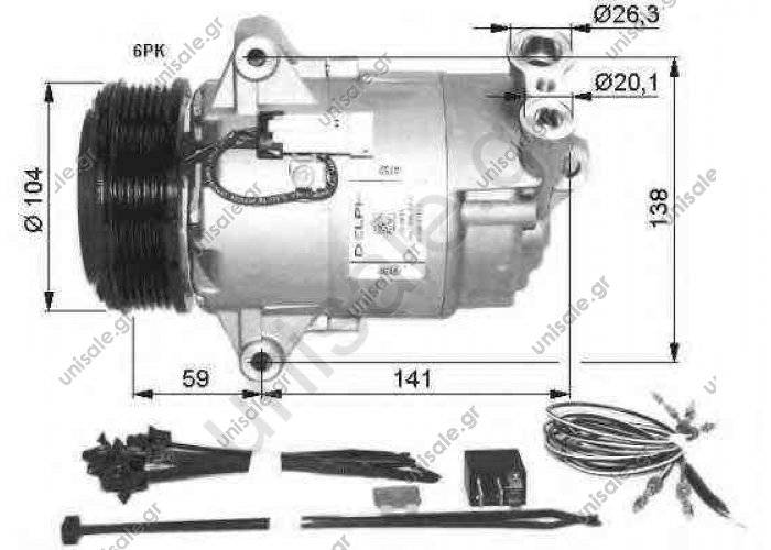 NRF 32427, Compressor, air conditioning OPEL ASTRA H 2004- ASTRA H Estate	2004-... ASTRA H GTC	2005-... ASTRA H TwinTop	2005-... ZAFIRA	2005-