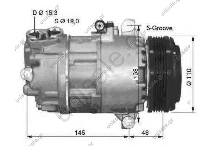 NRF 32434, Compressor, air conditioning BMW 3 Coupe 1999- 3	1998-2005 3 Touring	1999-2005
