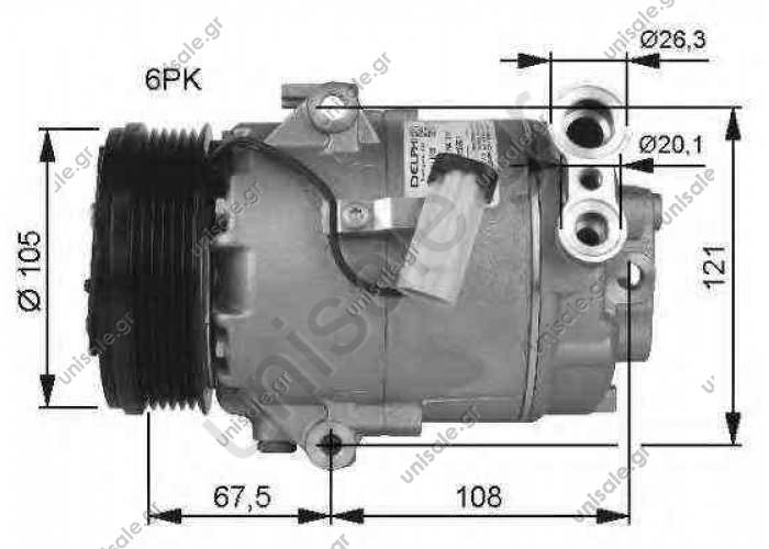 NRF 32480, Compressor, air conditioning OPEL ASTRA H 2004