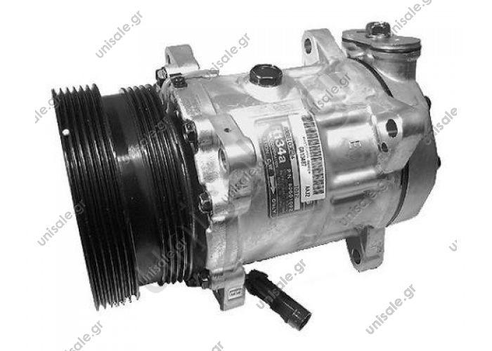 58712 MODEL ΣΥΜΠΙΕΣΤΗΣ  Compressor Sanden variable SD7V16    -ALFA ROMEO 155 (167) - 2.5V6 (167.A1C, 167.A1A) 10.9 ALFA ROMEO : 60601092 DIAM N GORTENSIONCULASSE 129_PV6/120_PV412PAD_VERT