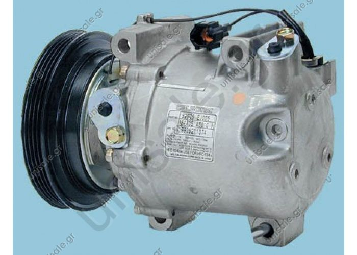 68446 (67446) MODEL NISSAN - ALMERA I (1.6) PRIMERA P11 (1.6) Compressor - CALSONIC MODEL - CR14 DIAMETER WHEEL - 138mm NUMBER PK - 4   No Original	92600-2J205/92600-2J004/92600-2J005/92600-2J205 ,84834-45010/92600-2J201 / 92600-2J203 / 92600-2J204 /
