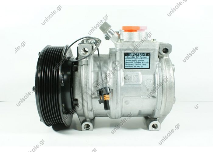 78375 447100-2380 Compressor CONSTRUCTION EQUIPMENT, AGRICULTURA Denso Compressor & Clutch John Deere OEM# RE46609   COMPRESSOR, N-DENSO 10PA17C JOHN DEERE, 12V 145MM 8PV R134A, DUST COVER