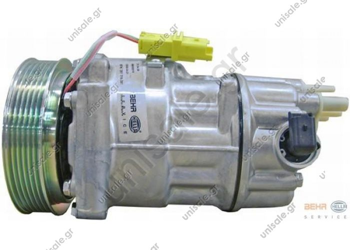 98804 (97804)  Compressor Sanden variable SD6C12   CITROEN / PEUGEOT MODEL - C4 / 307 11.04 - COMPRESSOR  6453QP 6453QQ  PEUGEOT : 9651911180, 6453QP