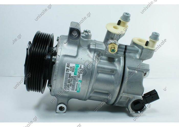 98885 (97885)  COMPRESSOR,NEW, SANDEN    1K0820803H VOLKSWAGEN GOLF / CADDY / TOURAN 6PK 110MM PXE16-1615, PXE16-1601, PXE16-8675 OE : 1K0 820 803G