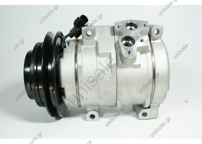 98949 (97949) COMPRESSOR NEW MAKE - MODEL MITSUBISHI - PAJERO III (3.2 DI-D) Compressor - DENSO MODEL - 10S17C DIAMETER WHEEL - 134mm NUMBER PK -1 MR568289, MR500876 Power supply	12 V Manufacturer	Denso Pulley diameter [mm]	130 Number CP	1