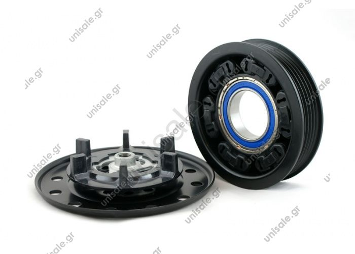 CA301 (98835)   ΤΡΟΧΑΛΙA ΚΟΜΠΡΕΣΣΕΡ    CLUTCH KPL.DENSO MAKE - TOYOTA D / SMART MODEL - DENSO 5SE/6SE
